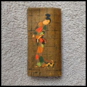 💚Vintage Japanese style pouch